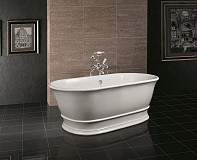 BC Designs Bampton Cian Solid Surface Freestanding Stone Resin Bath 1555mm x 740mm