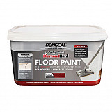Ronseal 35757 Diamond Hard Perfect Finish Floor Paint White 2.5 Litre