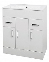 Eastgate Floor Standing Basin & Cabinet 820mm H x 810mm W - High Gloss White