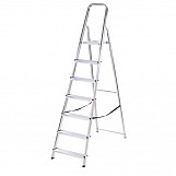Abru 13017 Aluminium Step Ladder 7 Tread BS2037 Class 3 95KG Max Load