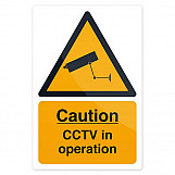 Fixman 494121 CCTV In Operation Sign 200 X 300mm Self-Adhesive