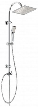 Chrome Plated Stainless Steel Shower Bathroom Set Column with Square Rainfall