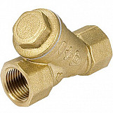"1/2"" x 1/2"" female thread brass gas filter - catches 0,2mm size dirt"