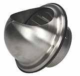 100mm Air Ejector Stainless Steel Duct Cap Semicircular Outside Box Casing Cover