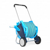 Professional garden hose reel hosepipe trolley set including proffesional 20m hose and spray gun
