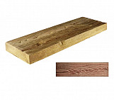 Dark small plank - wood-effect concrete decorative block paving slab for garden and patio