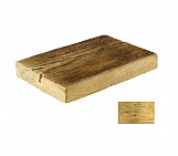 Bright half small plank - wood-effect concrete decorative block paving slab for garden and patio