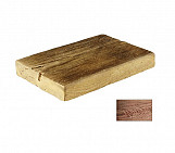 Dark half small plank - wood-effect concrete decorative block paving slab for garden and patio
