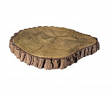 Big trunk - wood-effect concrete decorative block paving slab for garden and patio
