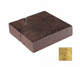Small bright square trunk - wood-effect concrete decorative block paving slab for garden and patio