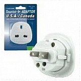Lloytron travel adaptor - uk 3-pin to u.S.A., canada and north america