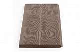 Durable Decorative Wood-effect Polymer Tongue and Groove Plank 10pcs 100cm Length 130x10mm Dark Pattern