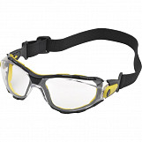 Delta Plus PACAYA CLEAR Polycarbonate Single Lens Safety Spectacles / Glasses with Elastic Strap