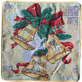 Emma Barclay Festive Tapestry Bells Cushion Cover