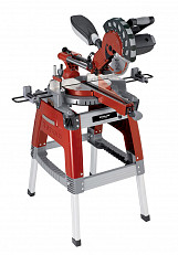 1800w Metal Cutting Sliding Mitre Saw with Underframe - Red/ Grey/ Black