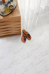 Dorchester Carrara White Floor - 331x331mm - White