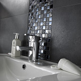 Glass Mosaic Single Sheet 30x30 - Black