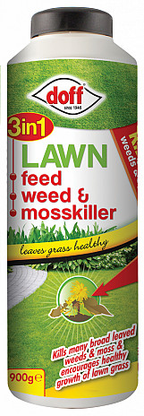 3 In 1 Lawn Feed Weed & Moss Killer - 900g