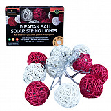 10 LED Solar String Lights - Red/Cream Mixed
