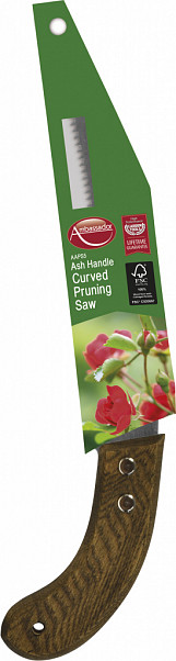 Ash Handle Curved Pruning Saw - Length 23cm
