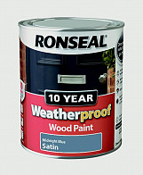 10 Year Weatherproof Wood Paint Gloss 750ml - Midnight Blue