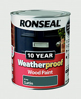 10 Year Weatherproof Wood Paint Gloss 750ml - Grey