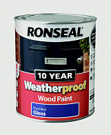 10 Year Weatherproof Wood Paint Gloss 750ml - Royal Blue