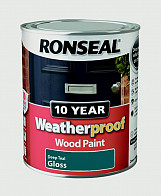 10 Year Weatherproof Wood Paint Gloss 750ml - Deep Teal