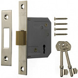 3 Lever Mortice Deadlock 63mm - Finish: Chrome Effect