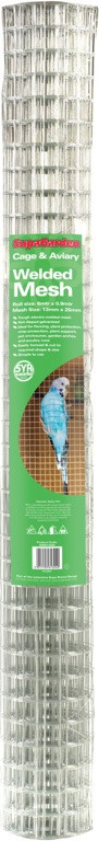Cage & Aviary Welded Mesh - 13x13mm 6x0.9m