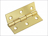 Butt Hinge Brass Finish 75mm (3in) Pack of 2