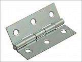 Butt Hinge Steel Zinc Plated 75mm (3in) Pack of 2
