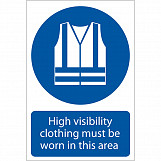 'Hi-Visibility Clothing' Mandatory Sign