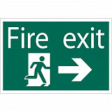 'Fire Exit Arrow Right' Safety Sign