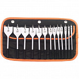 13 Piece Flat Wood Bit Set
