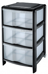 3 Drawer Tower Black