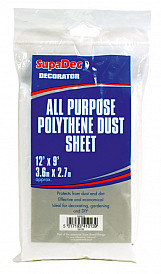 All Purpose Polythene Dust Sheets - 12' x 9'