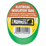 Electrical Insulation Tape Green 19mm 33m