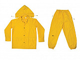 R102 3-Piece Yellow Polyester Suit - L