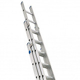 Industrial Extension Ladder 3-Part D Rungs 3 x 8