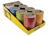 Electrical Insulation Tape 19mm x 33M Display of 48pc Assorted Colours