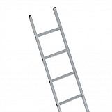 Industrial Single Aluminium Ladder 2.49m 8 Rungs