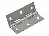Butt Hinge Polished Chrome Finish 65mm (2.5in) Pack of 2