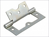 Flush Hinge Zinc Plated 75mm (3in) Pack of 2
