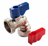 Angled Valve (Hot/Cold) - 15mm x 3/4