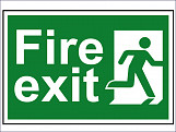 Fire Exit Man Running Right - PVC 300 x 200mm