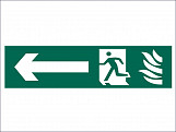 Running Man Arrow Left - PVC 200 x 50mm