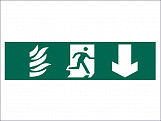 Running Man Arrow Down - PVC 200 x 50mm