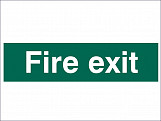 Fire Exit Text Only - PVC 200 x 50mm
