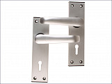 Ambassador Lock Standard Plate - Anodised Silver Visi Pack